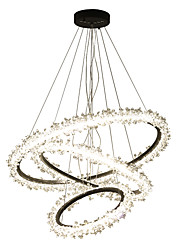 cheap -Ecolight™ Circular / Crystal / Novelty Chandelier Ambient Light Electroplated Aluminum Acrylic Crystal, Creative, New Design 110-120V / 220-240V Warm White / White