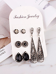 cheap -Women's Stud Earrings Classic Earrings Jewelry Silver For Daily Formal 4 Pairs