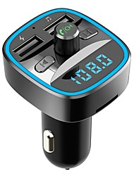 cheap -T25 Bluetooth 5.0 FM Transmitter Car Handsfree Bluetooth / Over-charge Protection / Short circuit Protection Car Mp3 Music Player Dual USB Car Charger U disk & TF Card Lossless Music Player