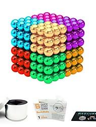 Недорогие -216 pcs 5mm Магнитные игрушки Магнитные шарики Магнитные игрушки Конструкторы Сильные магниты из редкоземельных металлов Неодимовый магнит Магнитный