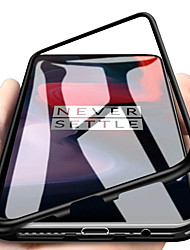 cheap -Single-sided Magnetic Phone Case For OnePlus OnePlus 6 Shockproof / Magnetic Back Cover Solid Colored Hard Tempered Glass