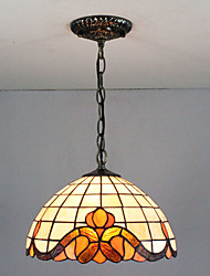 cheap -1-Light 30 cm Multi-shade / Creative Pendant Light Glass Glass Painted Finishes Tiffany 110-120V / 220-240V