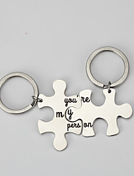 cheap -Classic Theme / Creative / Wedding Keychain Favors Stainless Keychains - 2 pcs All Seasons