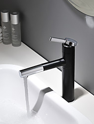 cheap -Bathroom Sink Faucet - Rotatable / New Design Painted Finishes / Black Deck Mounted Single Handle One HoleBath Taps