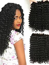 cheap -3 Bundles Brazilian Hair Deep Wave Human Hair Unprocessed Human Hair Wig Accessories Headpiece Natural Color Hair Weaves / Hair Bulk 8-28 inch Natural Color Human Hair Weaves Silky Classic Hot Sale
