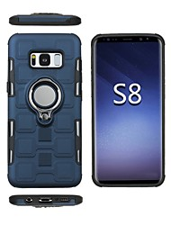 cheap -Case For Samsung Galaxy S8 Plus / S8 Shockproof / Ring Holder Back Cover Armor Soft TPU