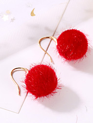 cheap -Women's Drop Earrings Classic Ball Ladies Sweet Fashion Cute Earrings Jewelry Blue / Pink / Dark Green For Prom Holiday 1 Pair