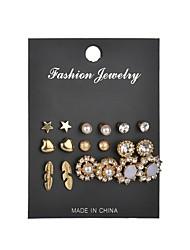 cheap -Women's Stud Earrings Retro Heart Flower Star Ladies Romantic Elegant Resin Earrings Jewelry Brass For Date Festival 1 set