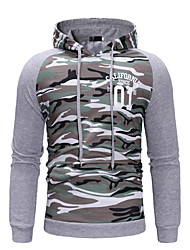 cheap -Men's Casual / Street chic Hoodie - Camo / Camouflage Light gray US32 / UK32 / EU40