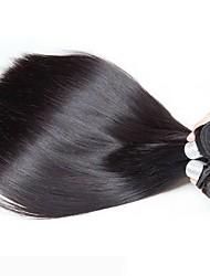 cheap -6 Bundles Peruvian Hair Straight Human Hair Unprocessed Human Hair Headpiece Natural Color Hair Weaves / Hair Bulk Hair Care 8-28 inch Natural Color Human Hair Weaves Silky Lovely For Black Women