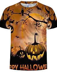 cheap -Inspired by Cosplay Cosplay Anime Cosplay Costumes Japanese Cosplay T-shirt Graphic / Pumpkin / Halloween Short Sleeve T-shirt For Men's