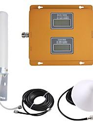 Недорогие -усилитель сигнала ретранслятора сигнала мобильного телефона gsm / dcs 900/1800 двухдиапазонный восходящий 890-915 МГц 1710-1785 МГц 935-960 МГц 1805-1880 МГц