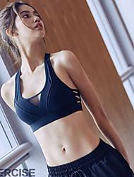 cheap -Women's Sports Bra Top Sports Bra Yoga Top Wireless Spandex Mesh Zumba Yoga Running Freedom Padded Medium Support Black White Solid Colored / Stretchy