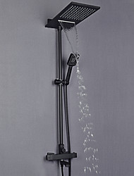 cheap -Shower Faucet - Contemporary Painted Finishes Wall Mounted Brass Valve Bath Shower Mixer Taps