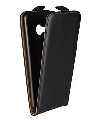 Недорогие -Кейс для Назначение HTC HTC U Ultra / HTC U Play / HTC One M9 со стендом / Флип Чехол Однотонный Твердый Настоящая кожа