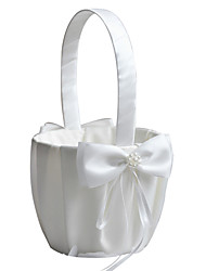 "cheap -Flower Basket Satin 4 1/3"" (11 cm) Satin Bow 1 pcs"