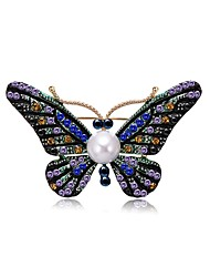 cheap -Women's Freshwater Pearl Brooches Chandelier Butterfly Ladies Unique Design Natural Casual / Sporty Brooch Jewelry Assorted Color For Gift Going out