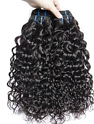 cheap -3 Bundles Peruvian Hair Water Wave Human Hair Unprocessed Human Hair Wig Accessories Headpiece Natural Color Hair Weaves / Hair Bulk 8-28 inch Natural Color Human Hair Weaves Designs Classic Thick