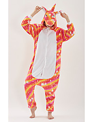 cheap -Adults' Kigurumi Pajamas Unicorn Anime Pony Onesie Pajamas polyester fibre Rainbow Cosplay For Men and Women Animal Sleepwear Cartoon Festival / Holiday Costumes