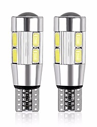 cheap -Motorcycle / Car LED Side Marker Lights T10 Light Bulbs 480 lm SMD 5630 5 W 10 For General Motors Universal 2pcs