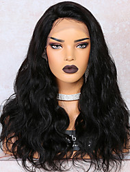cheap -Remy Human Hair Lace Front Wig Deep Parting Side Part Tara style Brazilian Hair Body Wave Natural Wig 250% Density 12-22 inch with Baby Hair Best Quality Hot Sale Thick Women's Medium Length Human