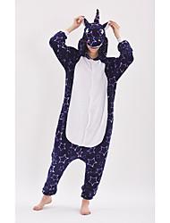 cheap -Adults' Kigurumi Pajamas Unicorn Anime Pony Onesie Pajamas polyester fibre Purple Cosplay For Men and Women Animal Sleepwear Cartoon Festival / Holiday Costumes