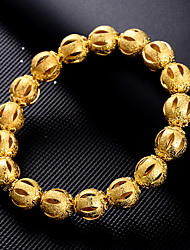 cheap -Women's Bracelet Frosted Ball Ladies Luxury Ethnic Gold Plated Bracelet Jewelry Yellow For Party Gift