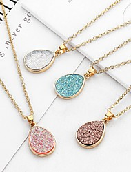 cheap -Women's Charm Necklace Classic Pear Ladies Simple Romantic Fashion Alloy Coffee Pink Light Blue 52+5 cm Necklace Jewelry 1pc For Going out Work