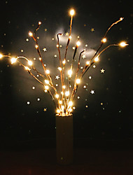 cheap -LED Willow Branch Lamp Staycation Floral Lights 20 Bulbs Home Christmas Party Decor