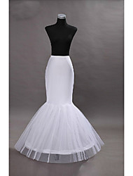 cheap -Princess Petticoat Hoop Skirt Tutu Under Skirt Mermaid and Trumpet Gown Slip 1950s Gothic White / Medieval / Crinoline