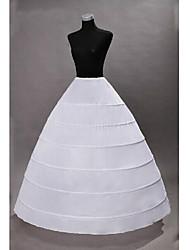 Недорогие -Принцесса Нижняя юбка пачка Под юбкой Classic Lolita 1950-е года Готика Черный Белый / Средневековый / Кринолин