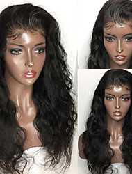 cheap -Virgin Human Hair Remy Human Hair Lace Front Wig With Ponytail style Peruvian Hair Body Wave Natural Wig 150% Density with Baby Hair Natural Hairline For Black Women 100% Virgin Bleached Knots Women's