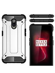 Недорогие -Кейс для Назначение OnePlus One Plus 6T Защита от удара Кейс на заднюю панель броня Твердый ПК