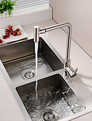 cheap -Kitchen faucet - Single Handle One Hole Nickel Brushed Deck Mounted Contemporary Kitchen Taps