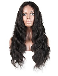 cheap -Virgin Human Hair Remy Human Hair Full Lace Wig Layered Haircut Middle Part Side Part style Brazilian Hair Body Wave Natural Wig 130% Density Soft Natural Natural Hairline African American Wig 100