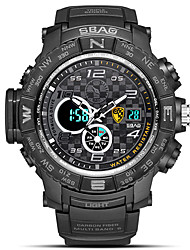 cheap -Men's Sport Watch Digital Watch Japanese Digital Quilted PU Leather Black / Blue / Red 30 m Water Resistant / Waterproof Calendar / date / day Chronograph Analog - Digital Sparkle Fashion - Red Blue