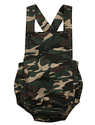 cheap -Baby Boys' Basic Daily / Sports Print Printing Sleeveless Cotton Romper Army Green / Toddler
