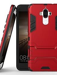 Недорогие -Кейс для Назначение Huawei Mate 9 Защита от удара / со стендом Кейс на заднюю панель Однотонный Твердый ПК