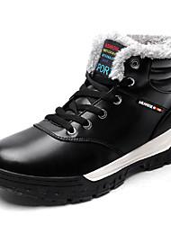 cheap -Men's Snow Boots Microfiber Winter Casual Boots Walking Shoes Warm Black / Blue