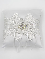 cheap -Rhinestone / Lace Satin Ring Pillow Pillow All Seasons
