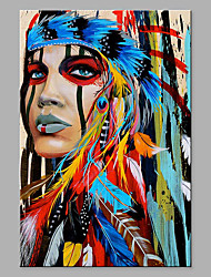cheap -Oil Painting Hand Painted Abstract People Classic Modern Rolled Canvas Rolled Without Frame