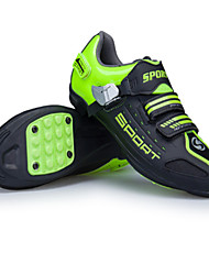 cheap -Kid's Adults' Mountain Bike Shoes Nylon Anti-Slip Cushioning Ventilation Cycling / Bike Cycling Shoes White Green Men's Women's Cycling Shoes / Ultra Light (UL) / Breathable Mesh / Ultra Light (UL)