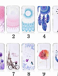 cheap -Case For Samsung Galaxy A5(2018) / A6 (2018) / A6+ (2018) Transparent / Pattern Back Cover Flower Soft TPU