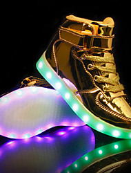 cheap -Boys' LED / LED Shoes / USB Charging PU Sneakers LED Shoes Kids / Teenager Luminous Pink / Gold / Silver Fall / Rubber