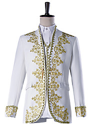 cheap -Prince Cosplay Costume Masquerade Jacket Tuxedo Suits & Blazers Men's Embossed Baroque Medieval 18th Century Halloween Carnival Festival / Holiday Polyster Black / White Men's Carnival Costumes Plus