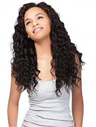 Недорогие -человеческие волосы Remy U-образный Лента спереди Парик Средняя часть Боковая часть стиль Бразильские волосы Волнистые Нейтральный Парик 250% Плотность волос / с детскими волосами