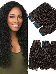 cheap -6 Bundles Straight Water Wave Human Hair Unprocessed Human Hair Wig Accessories Headpiece Natural Color Hair Weaves / Hair Bulk 8-28 inch Natural Color Human Hair Weaves Extender Soft Silky Human