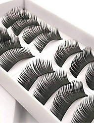 cheap -Eyelash Extensions 20 pcs Women Pro Natural Extra Long Fiber Daily Wear Full Strip Lashes Thick - Makeup Daily Makeup Traditional Cosmetic Grooming Supplies