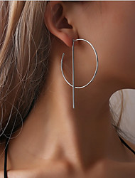 cheap -Women's Hoop Earrings Earrings Hollow Out Ladies Simple Fashion European Earrings Jewelry Golden / Silver For Daily Festival 2pcs