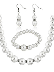 cheap -Women's Bridal Jewelry Sets Classic Elegant Earrings Jewelry White For Wedding Party